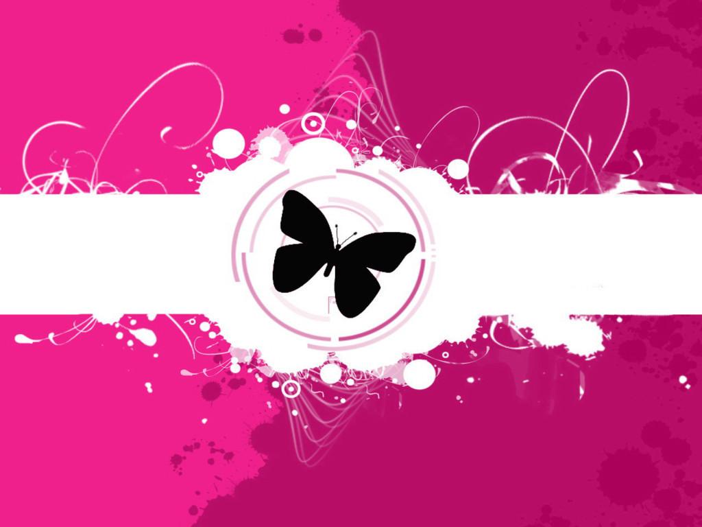Pretty Pink   Butterflies Wallpaper 13073364 1024x768