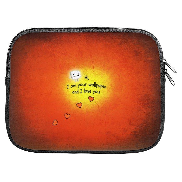 Hi I Am Your Wallpaper And I Love You Zipper Pouch DesignFuzzcom 700x700