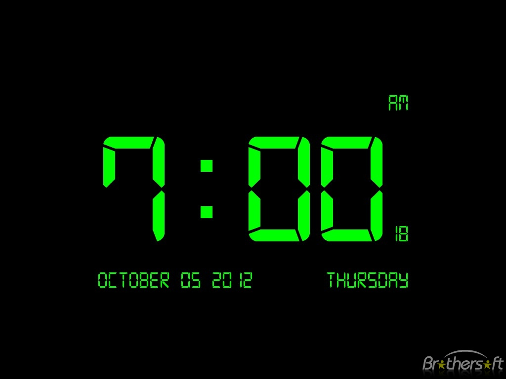 Download Digital Clock 7 Digital Clock 7 20 Download 1024x768
