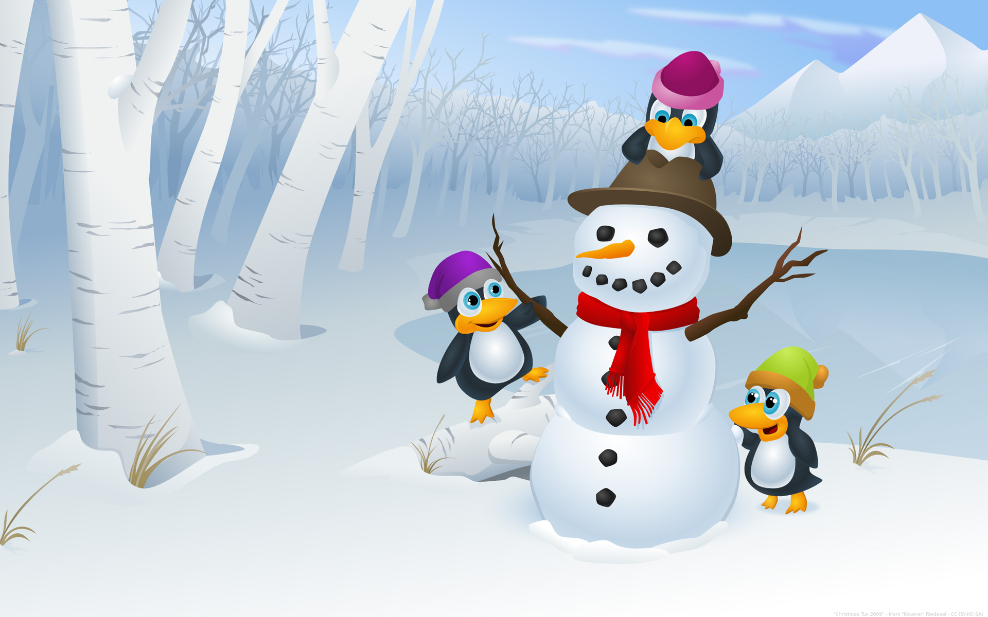 Christmas Screensavers Penguin – Merry Christmas And Happy New Year 2018