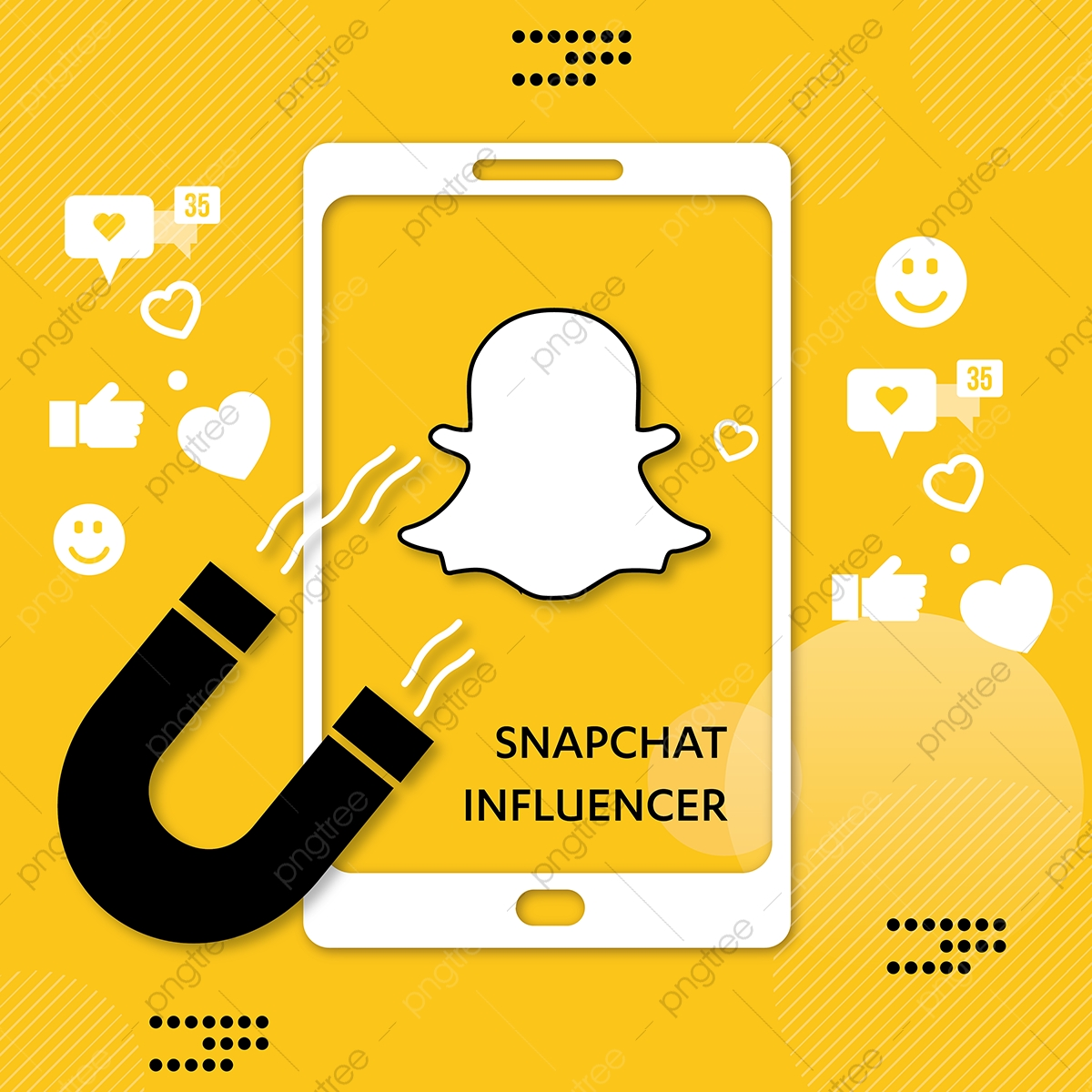 Social Media Background Snapchat Influencer Social Media 1200x1200