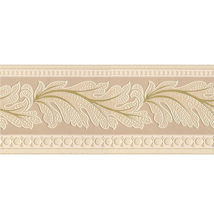in Gold Leaf Textured Prepasted Wallpaper Border Lowes Canada 900x900