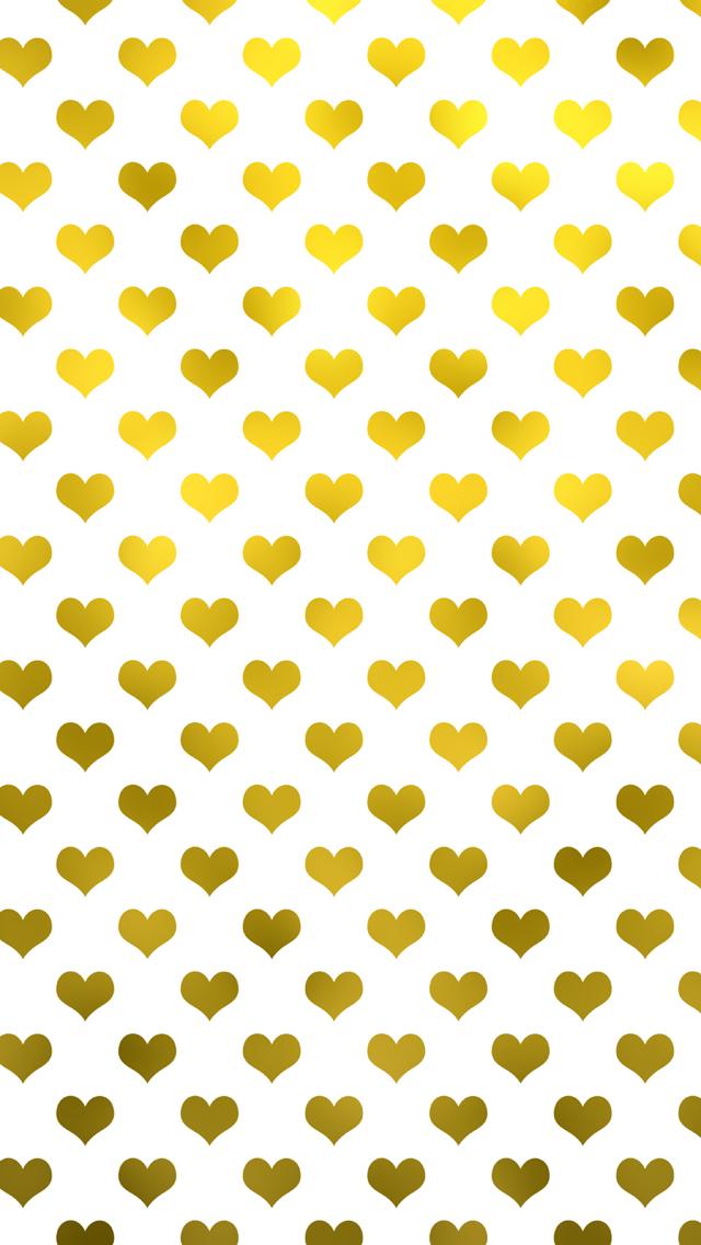 Gold And Pink Polka Dots Wallpaper Gold Metallic Hearts Polka Dot 640x1136