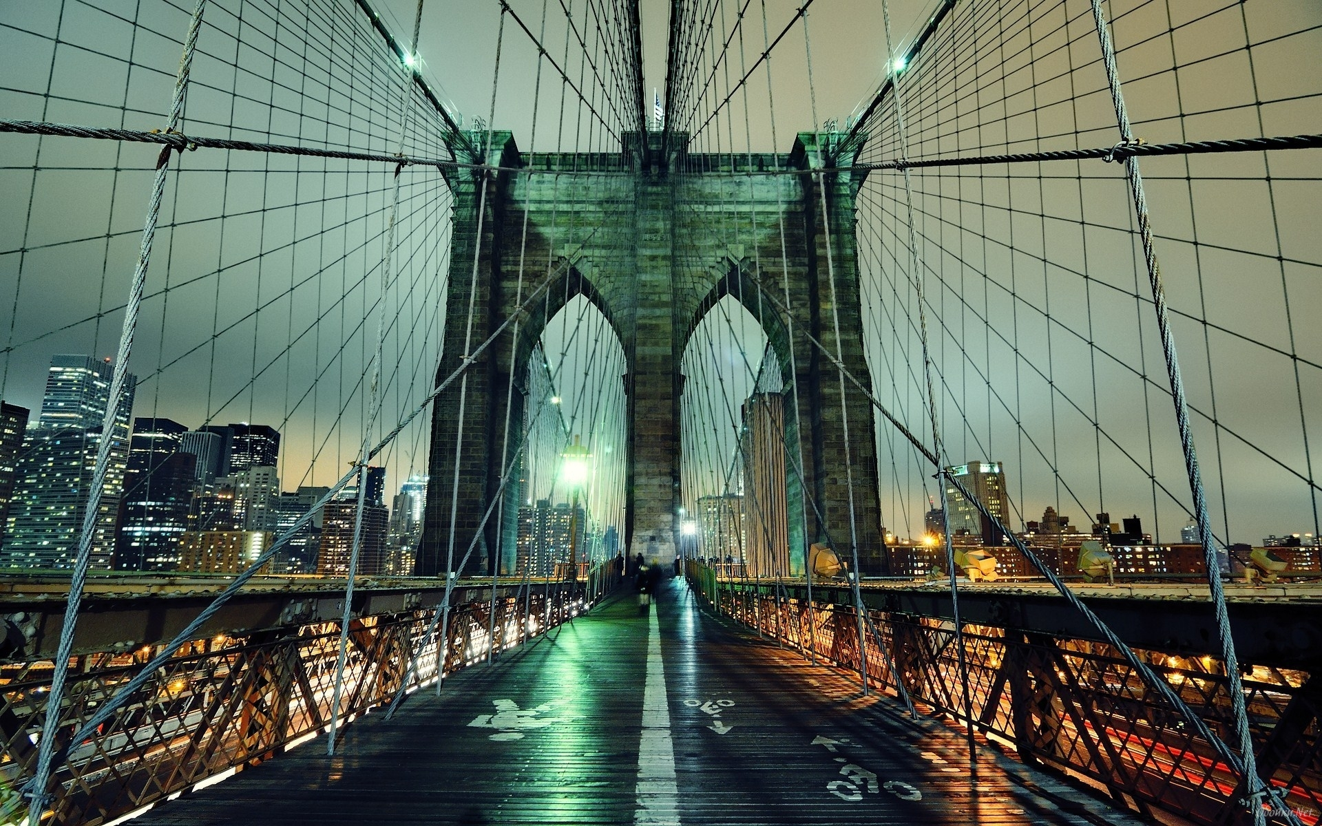 Brooklyn Bridge inside HD Desktop Wallpaper | HD Desktop Wallpaper