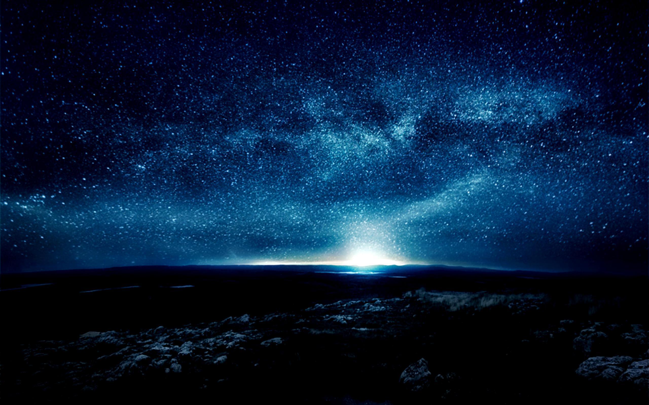 Starry Night Sky Wallpapers 2560x1600