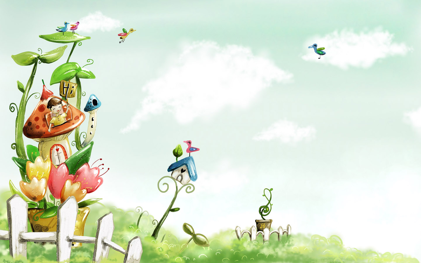 Spring Fairyland Wallpaper For 20 Inch Widescreen LCD 1440x900