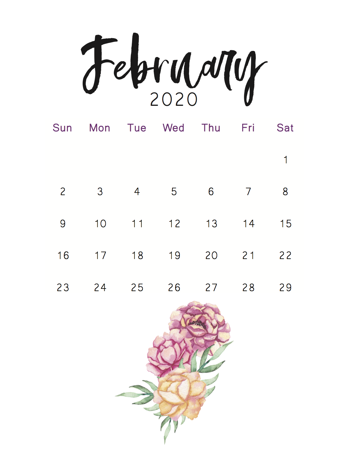 30 February 2020 Calendars for Home or Office   Onedesblog 1204x1560