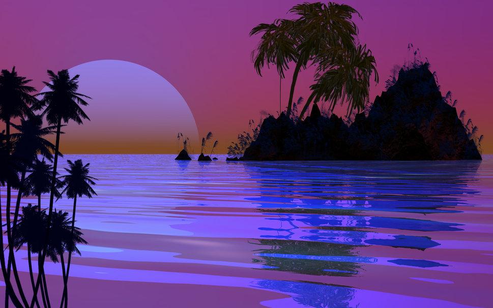 Sunset Island Wallpaper   ForWallpapercom 969x606