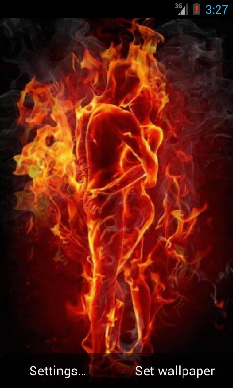 Fire Burning Live Wallpaper 480x800