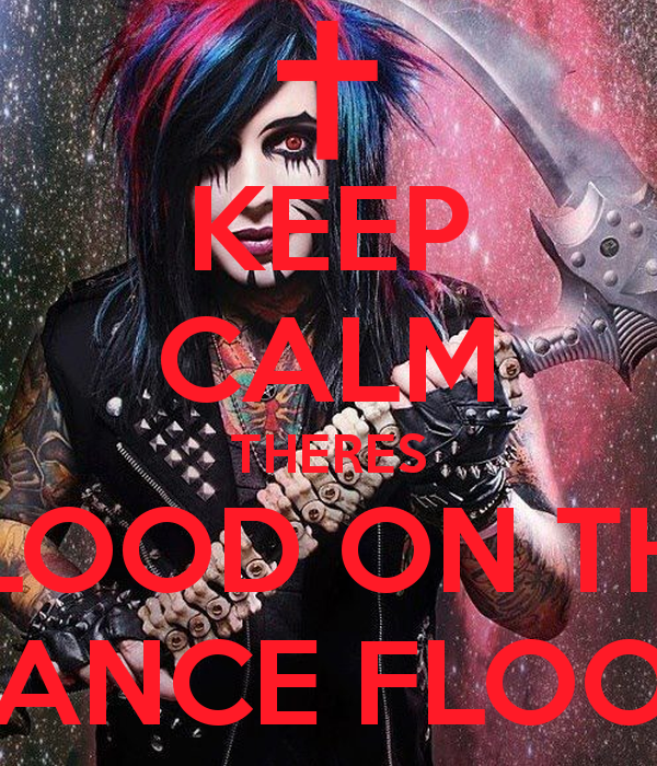 KEEP CALM THERES BLOOD ON THE DANCE FLOOR   KEEP CALM AND CARRY ON 600x700