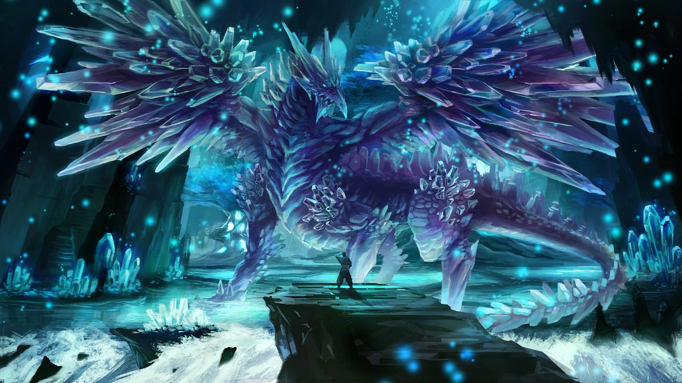 Ice Dragon Computer Wallpapers Desktop Backgrounds 1366x768 ID 1366x768