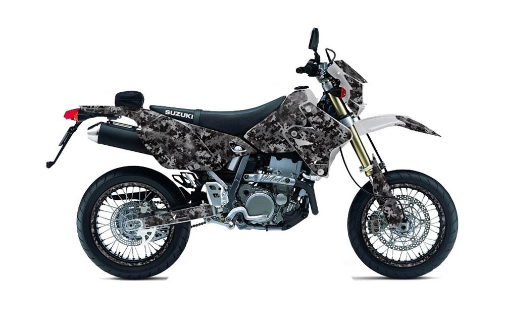 Suzuki DRZ 400 S Metal Tank Dirt Bike Graphics Digicamo   Black 1000x660