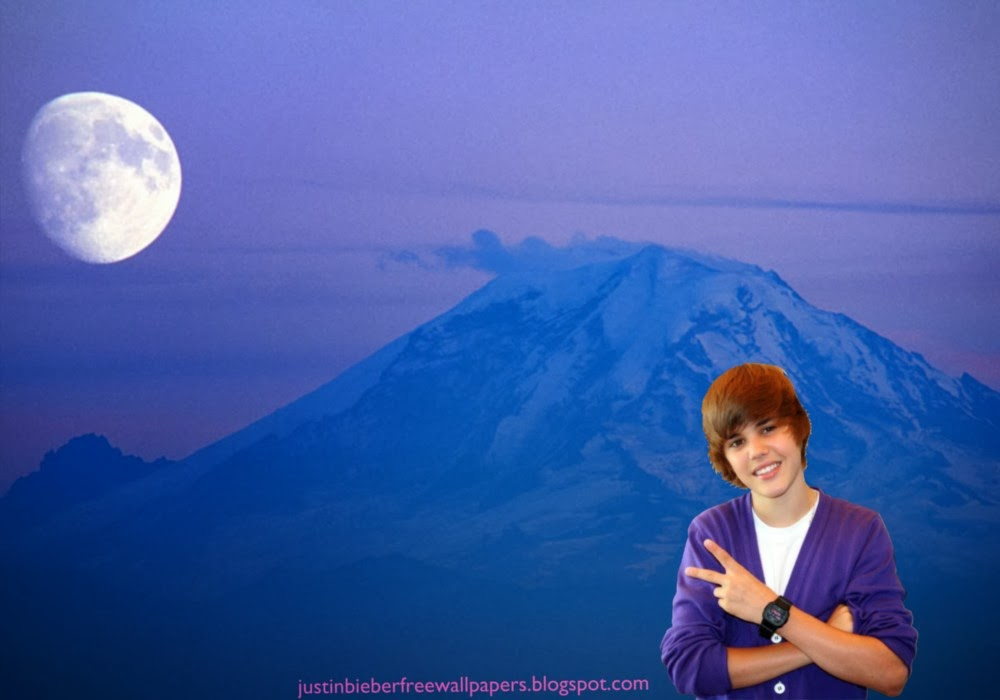 Bieber Salutes the fans at Ascent Moon Blue Mountain desktop wallpaper 1000x700