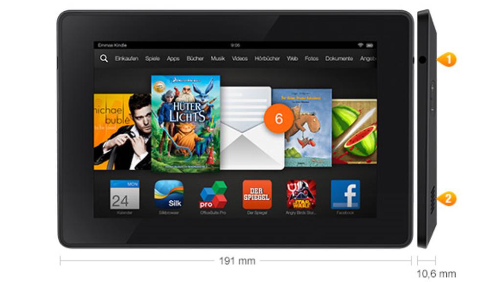 Kindle Fire HD 7 2013 Kleiner Tablet PC von Amazon  Bilder 1024x576