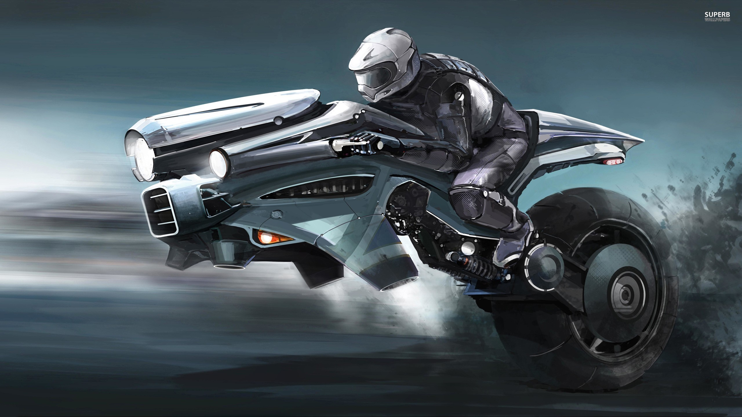 fantasy soldier future bike Wallpapers 2560x1440