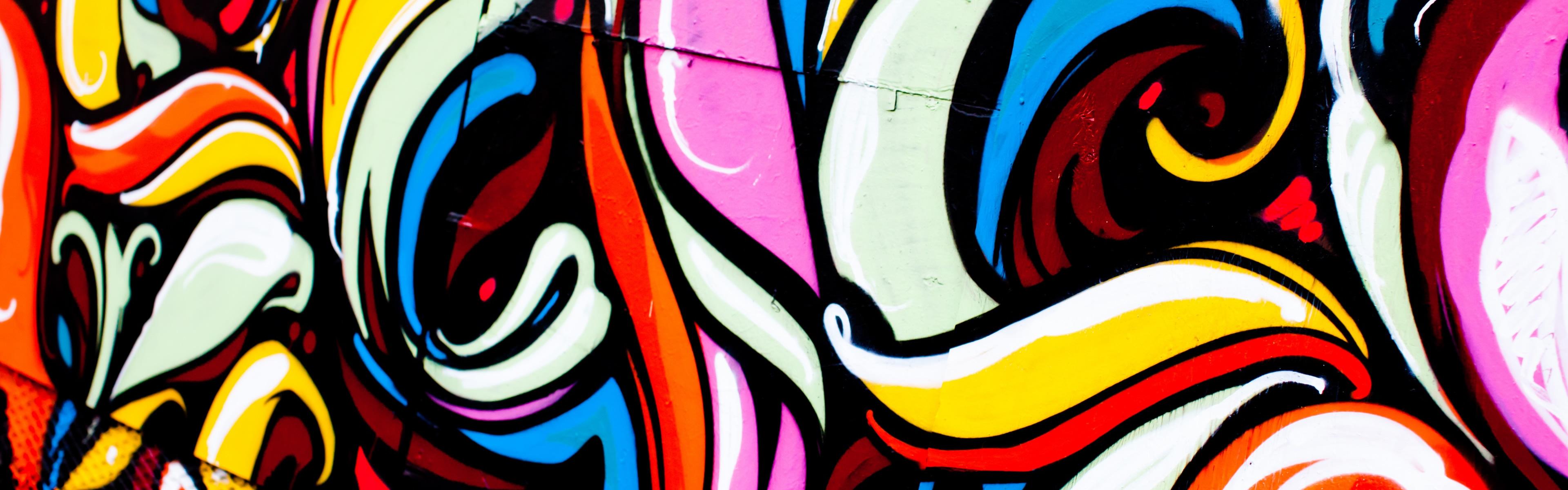 Art Of Graffiti iPhone Panoramic Wallpaper Download iPad Wallpapers 3840x1200