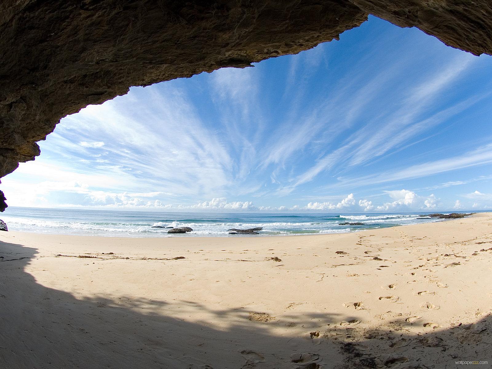 Download Beach Ocean Wallpaper Wallpaper 1600x1200