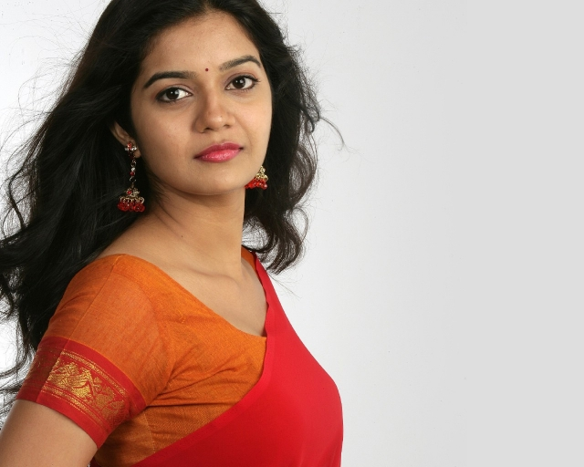 Tamil Actress Swathi In Red Saree Hd Wallpaper Actor 640x512
