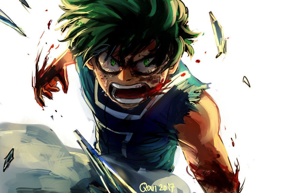 Free Download Angry Anime Boy My Hero Academia Izuku Midoriya