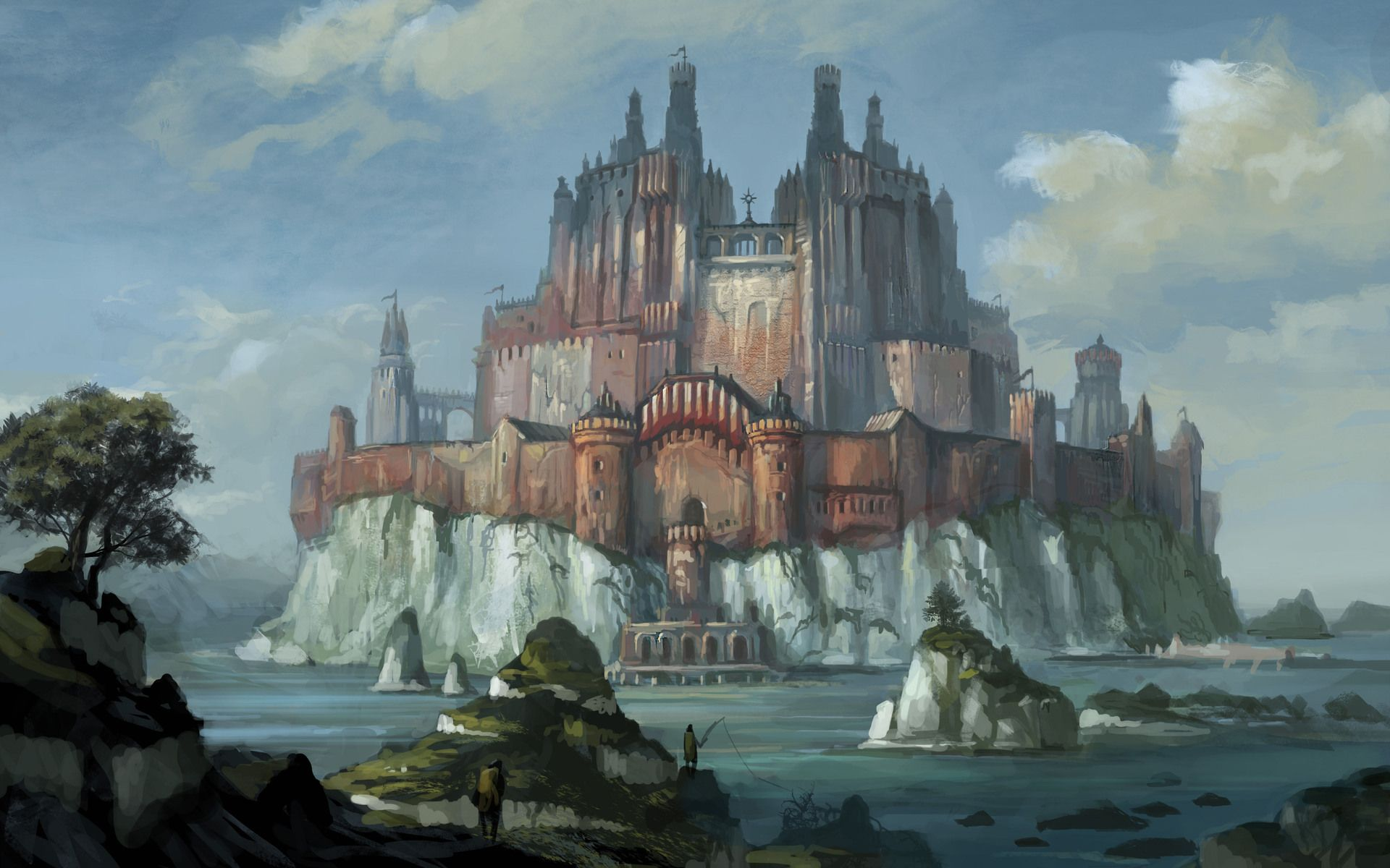 Fantasy Castles Fantasy Castle WallpaperBackground 1920 x 1200 1920x1200