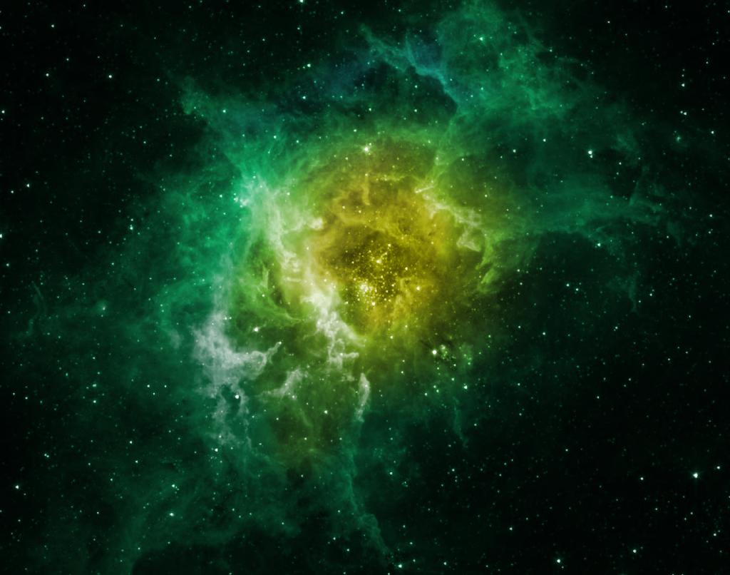 Green Nebula Wallpaper Wallpapersafari
