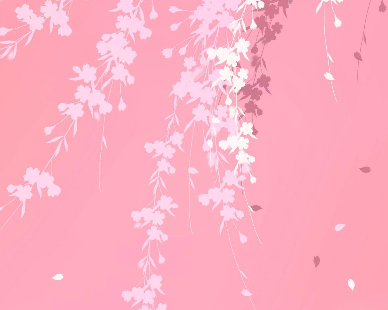 Pink background branches windows 7 Desktop Wallpaper 1280x1024