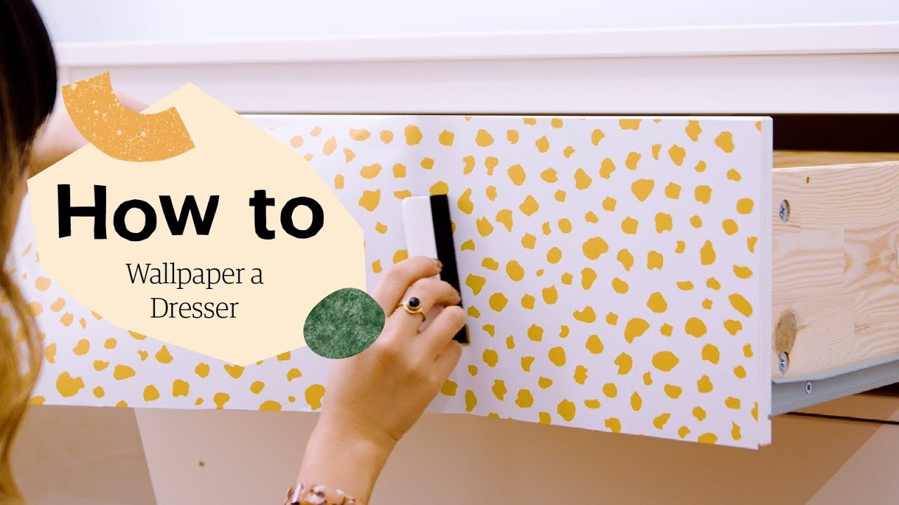 Video How to Refinish a Dresser with Peel and Stick Wallpaper 1280x720