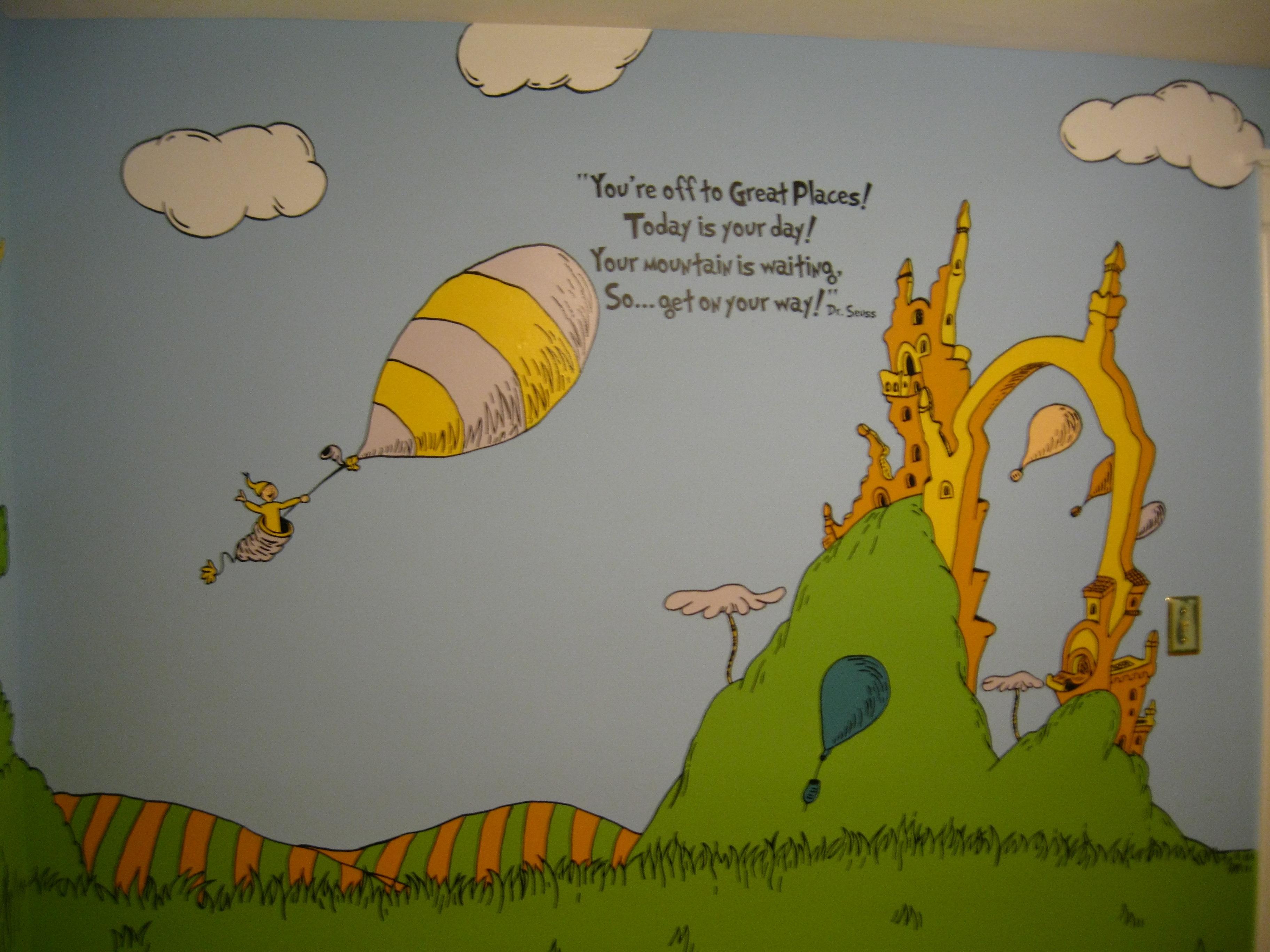 Dr seuss wallpaper nursery wallpapersafari - Dr seuss wallpaper ...
