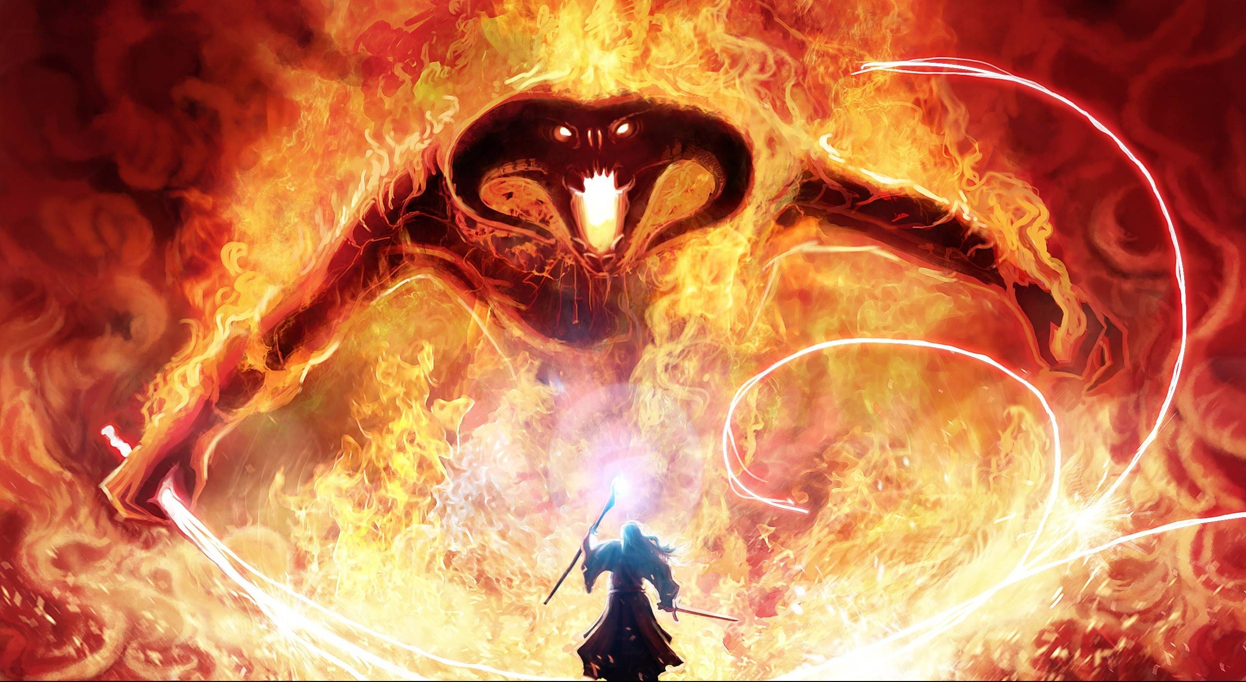 Gandalf and the Balrog HD Wallpaper Download HD Wallpapers 2500x1370