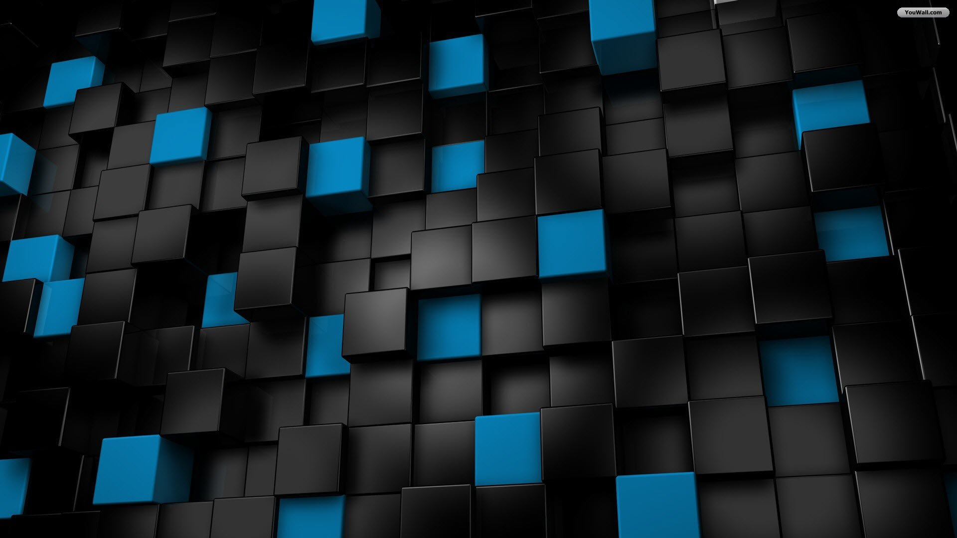 Download Black And Blue Cubes Wallpaper Full HD Wallpapers 1920x1080