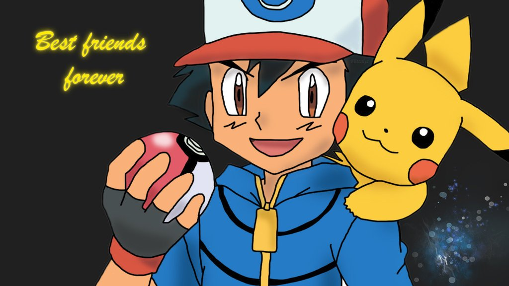 Pokemon Pikachu And Ash Wallpaper Ash and pikachu best friends 1024x576