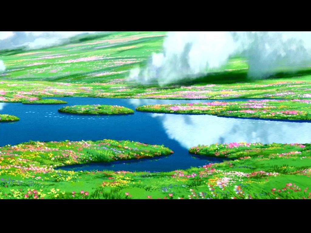 Studio Ghibli Wallpaper 1024x768 Studio Ghibli Howls Moving Castle 1024x768