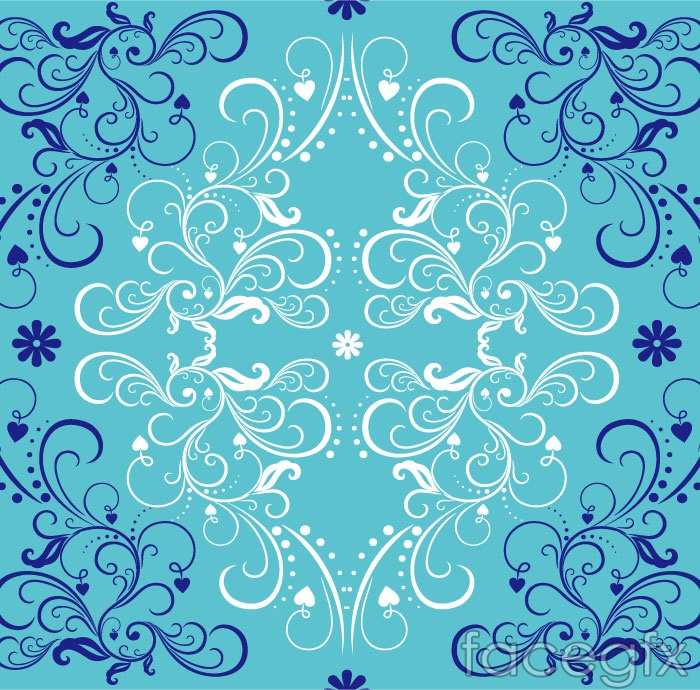 The Blue pattern background vector is a vector illustration and can be 700x690