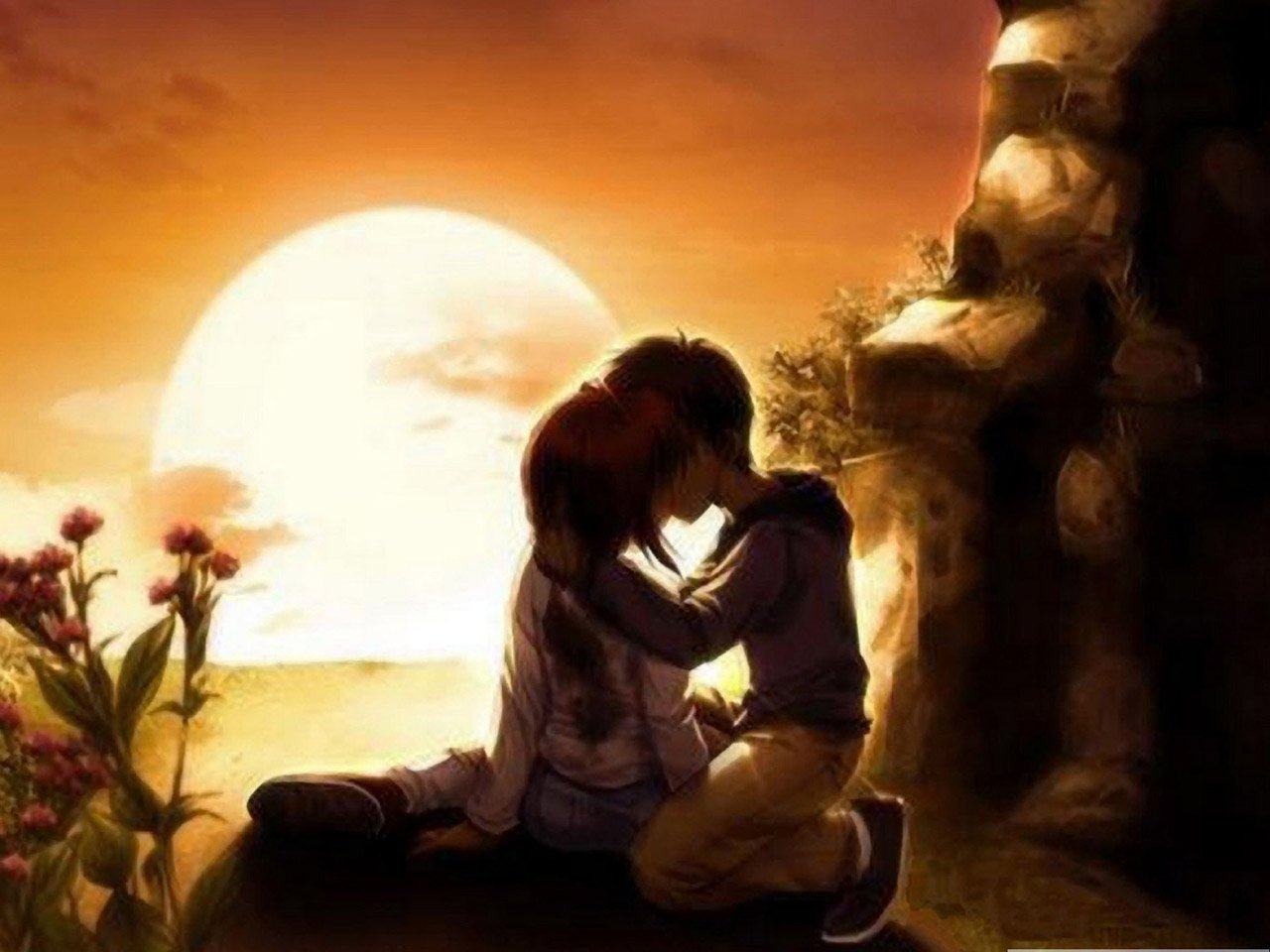 Anime Love Wallpaper then choose save image as and save this mobile 1280x960