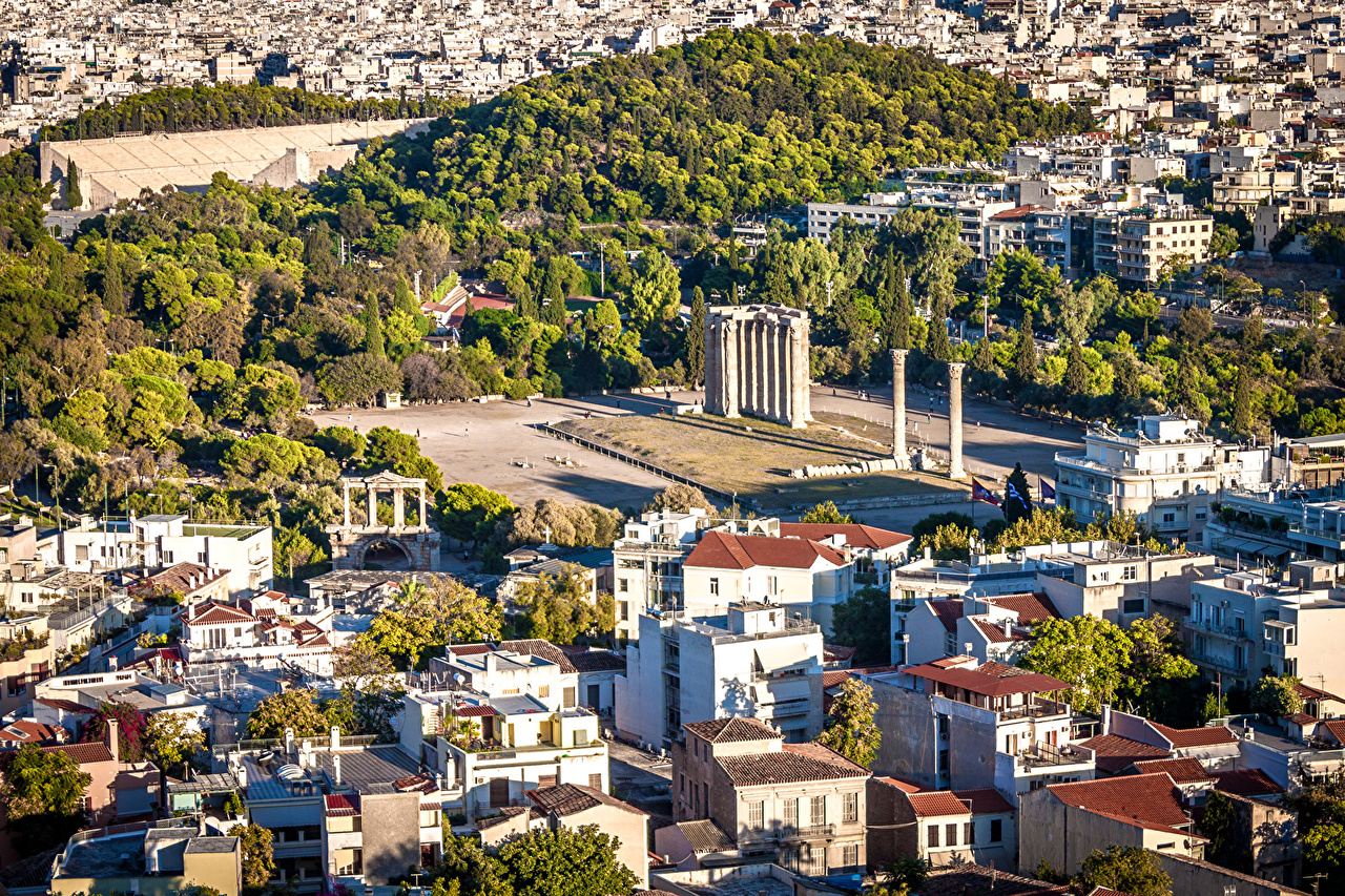 Wallpapers Greece Athens From above Cities Building 1280x853