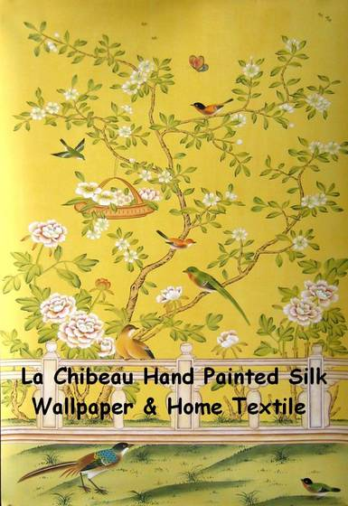 Chinese Hand painted Wallpapers   La Chibeau Company 385x560