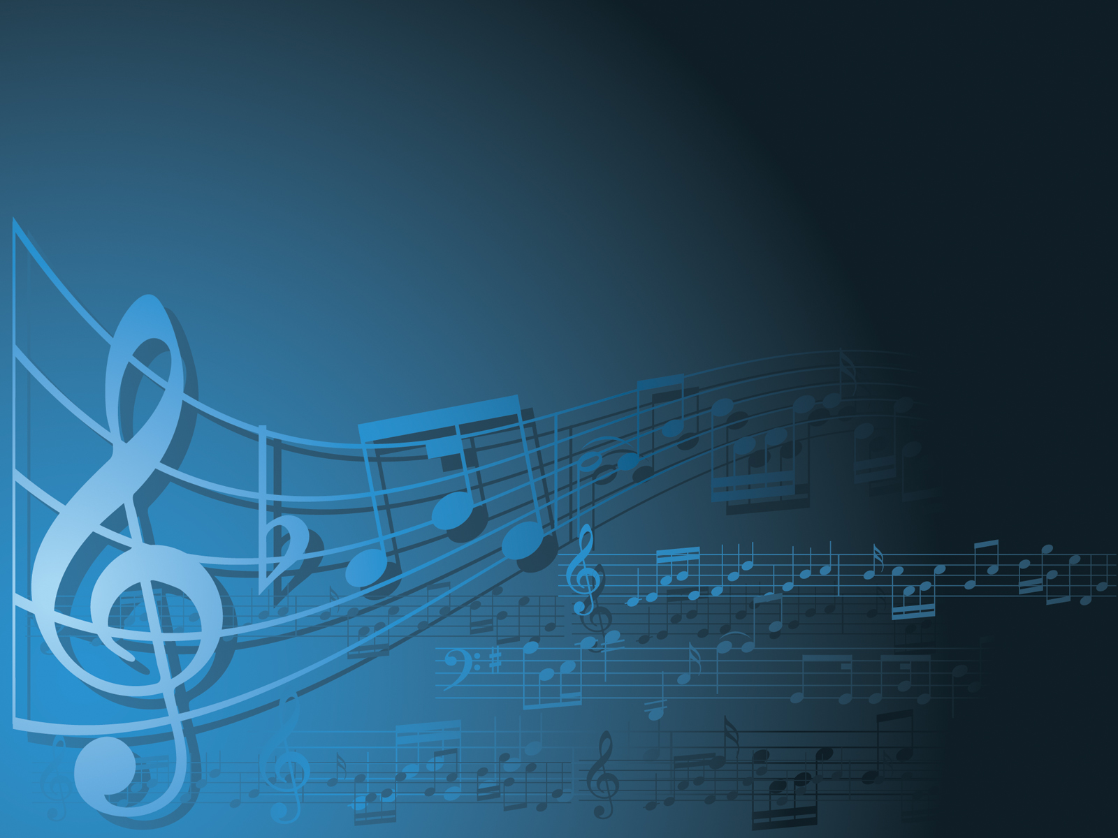 Blue and white music Backgrounds   Music   PPT Backgrounds 1600x1200