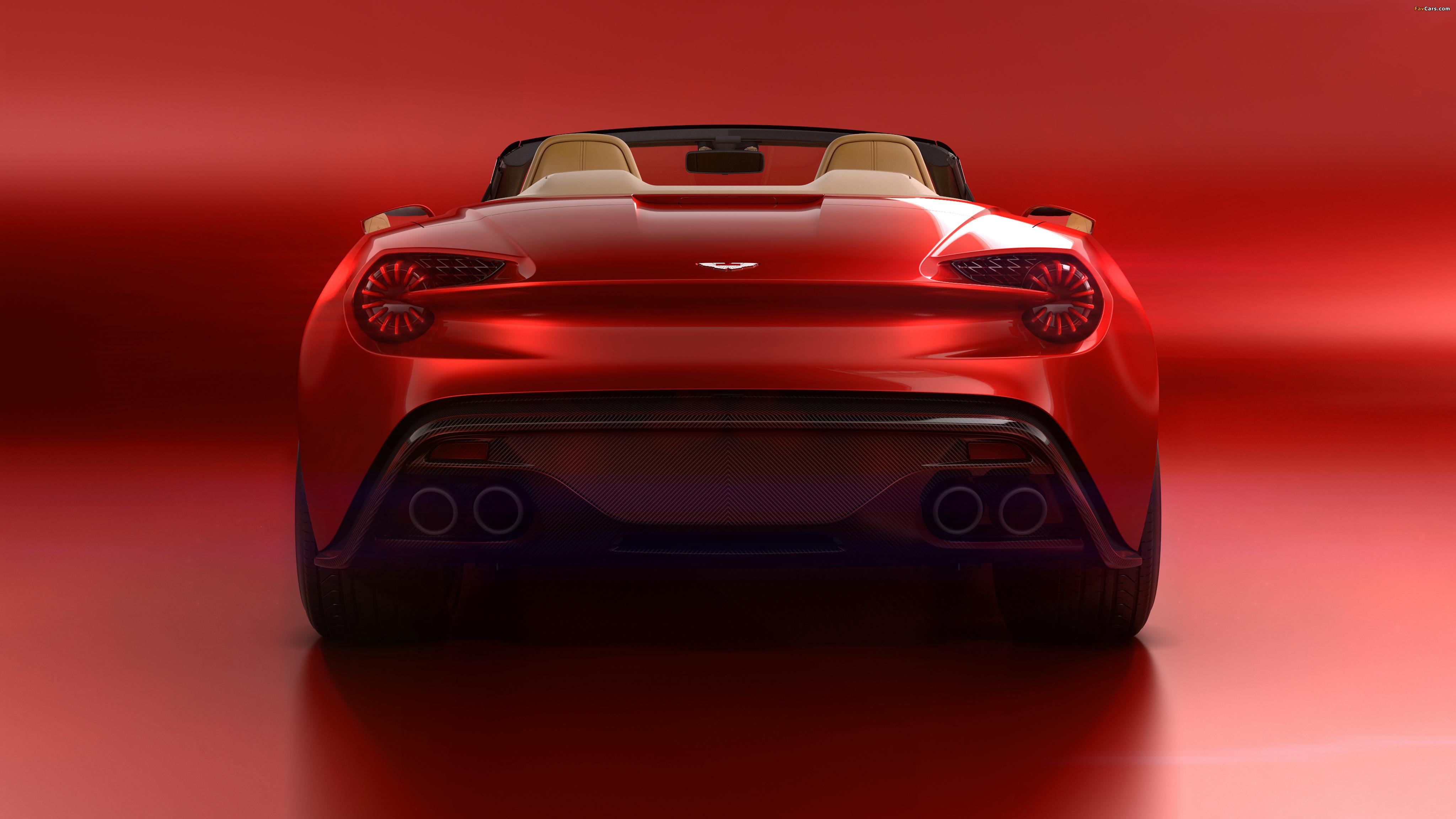 Aston Martin Vanquish Zagato Volante 2016 wallpapers 4096x2304