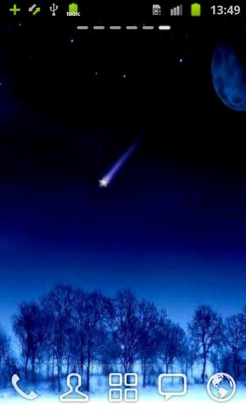 Shooting Stars Live Wallpaper android live wallpaper 480x800