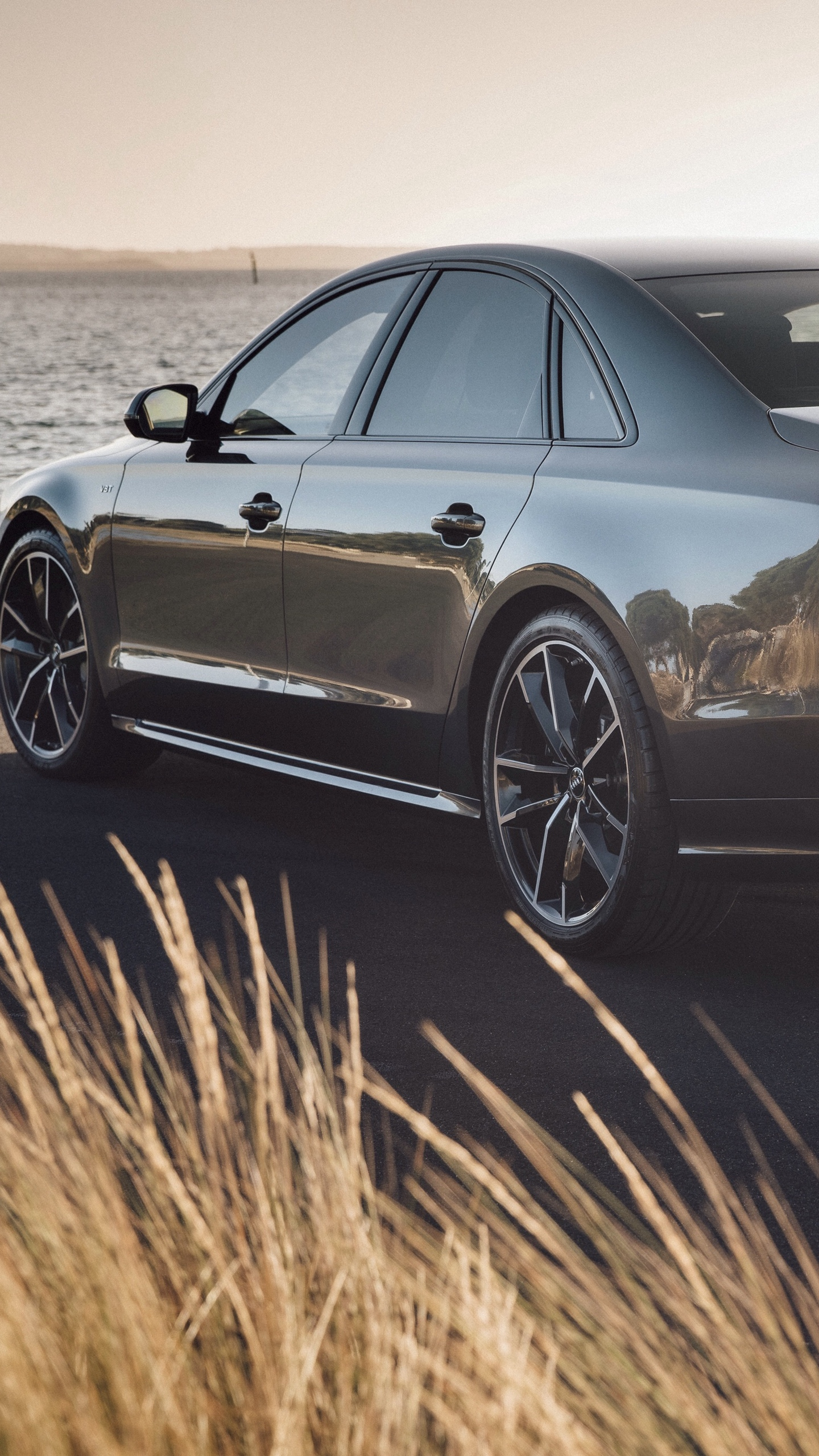Download wallpaper 1440x2560 audi s8 rear view qhd samsung 1440x2560