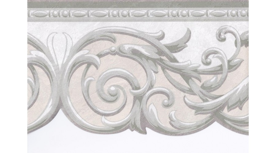 Home Green Grey Cream Silver Molding Wallpaper Border 900x500
