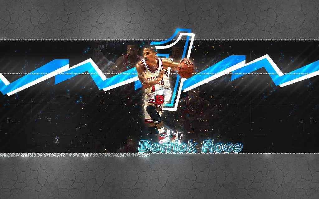 Derrick Rose Bulls blue thunder   Chicago Bulls Wallpaper 1024x640