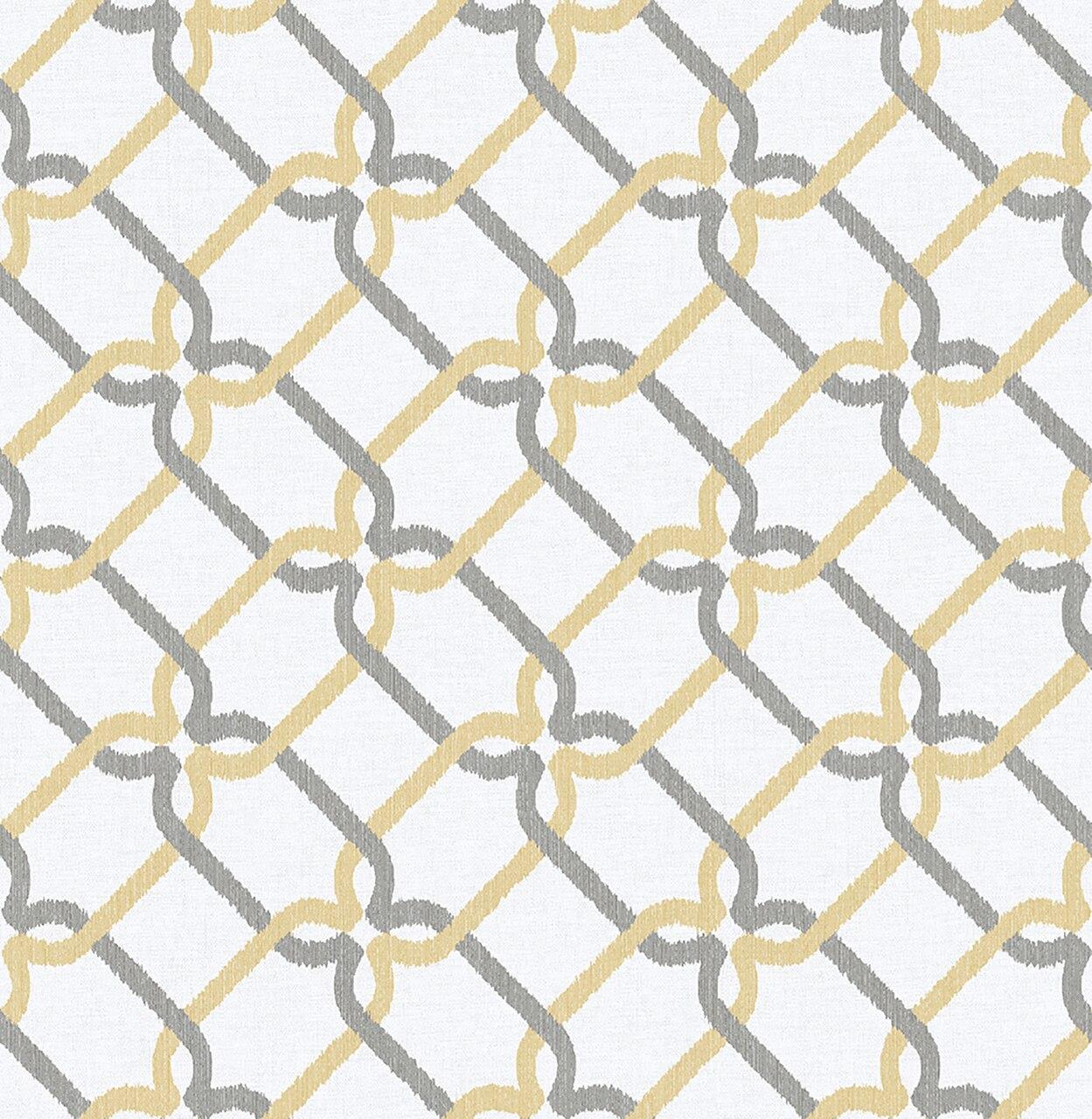 Mirabelle Palladian Honey Links Wallpaper   The Savvy Decorator 1249x1280