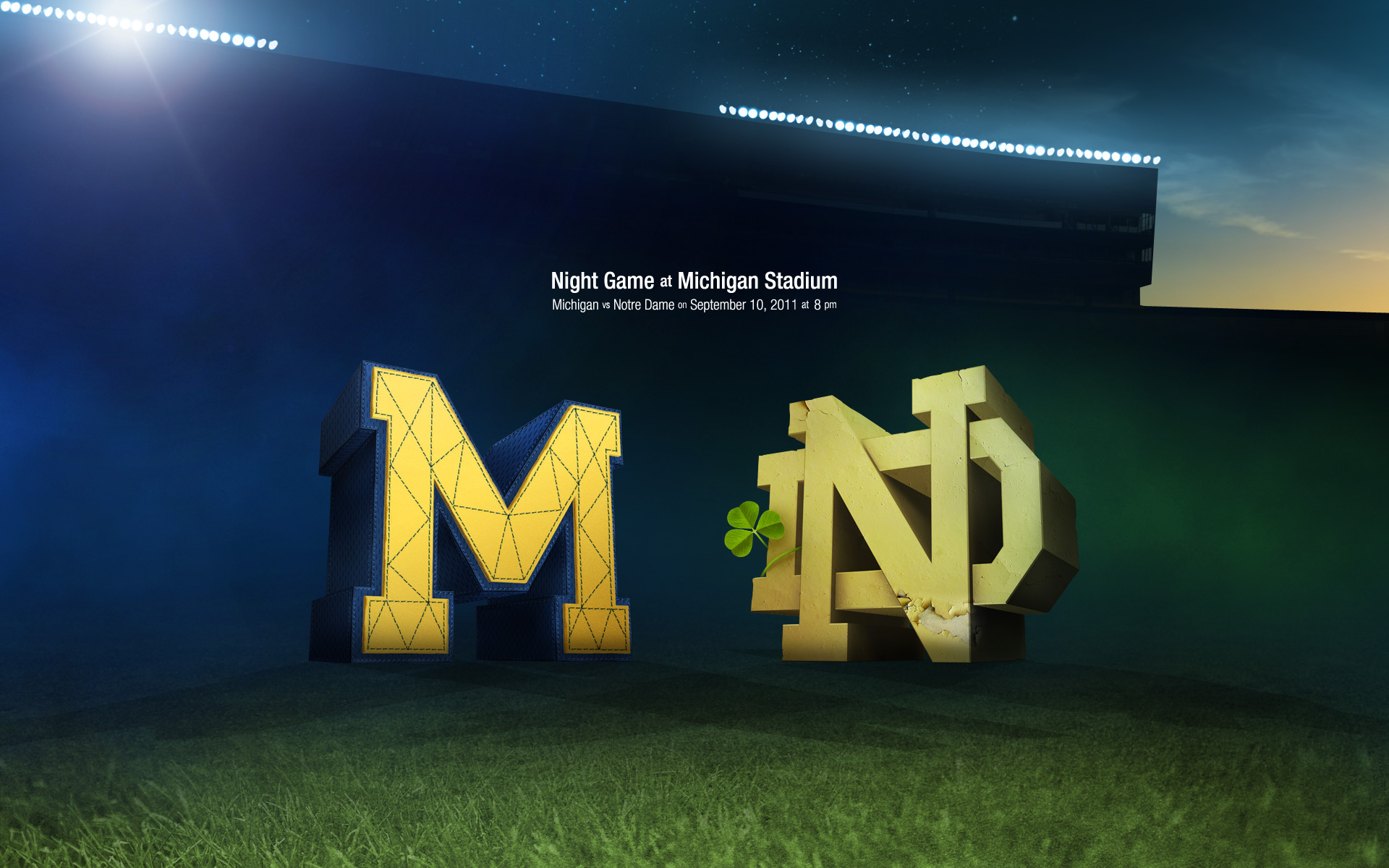 2011 Wallpaper   All That Glitters   Notre Dame mgoblog 1920x1200