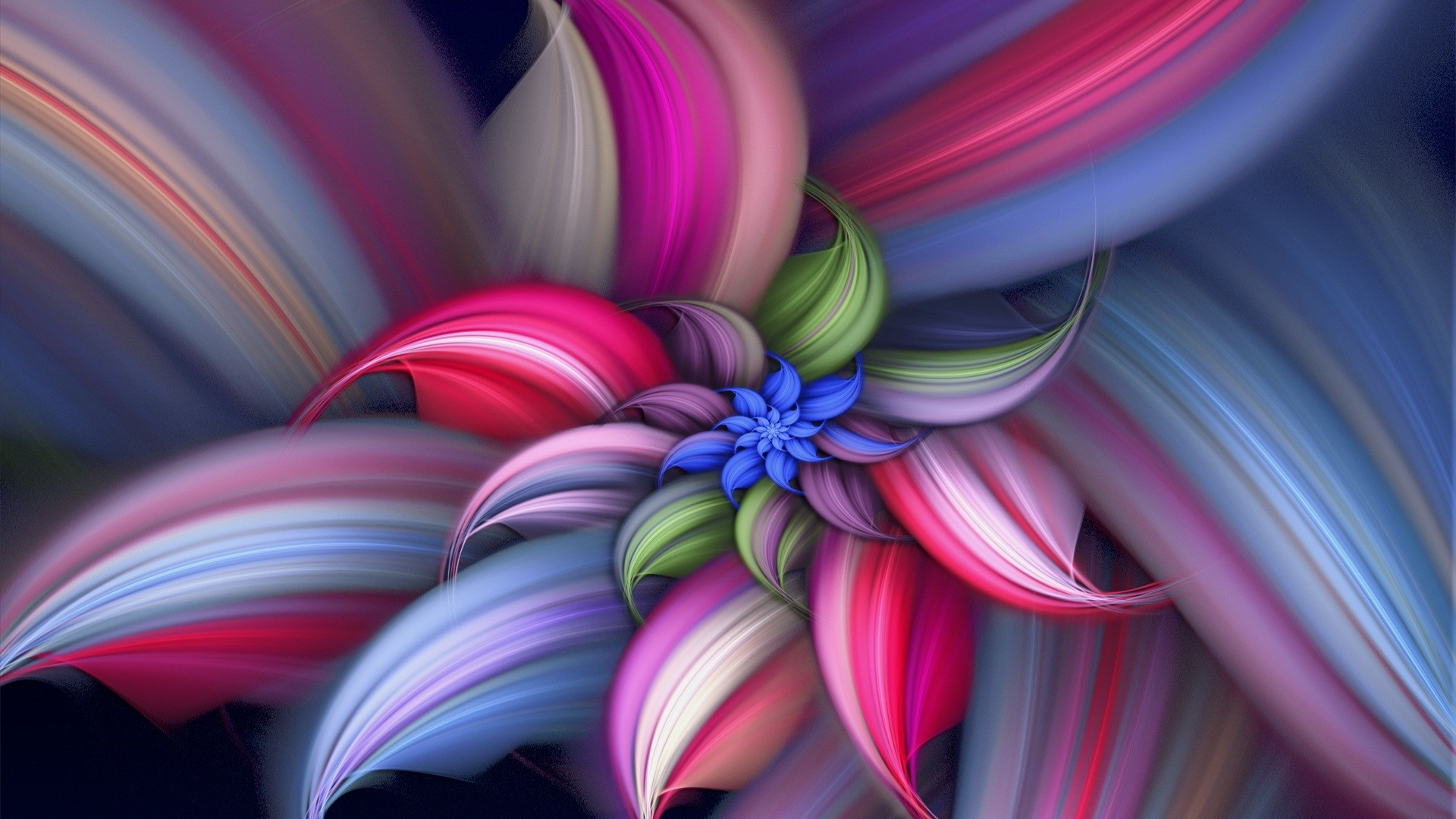 Abstract Flower Vector Design HD Wallpaper Abstract Flower Vector 1920x1080
