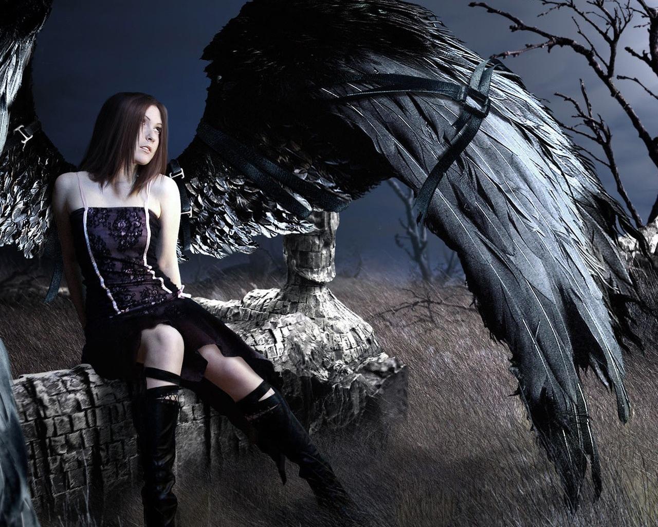 Gothic angel wallpaper wallpapersafari - Gothic angel wallpaper ...