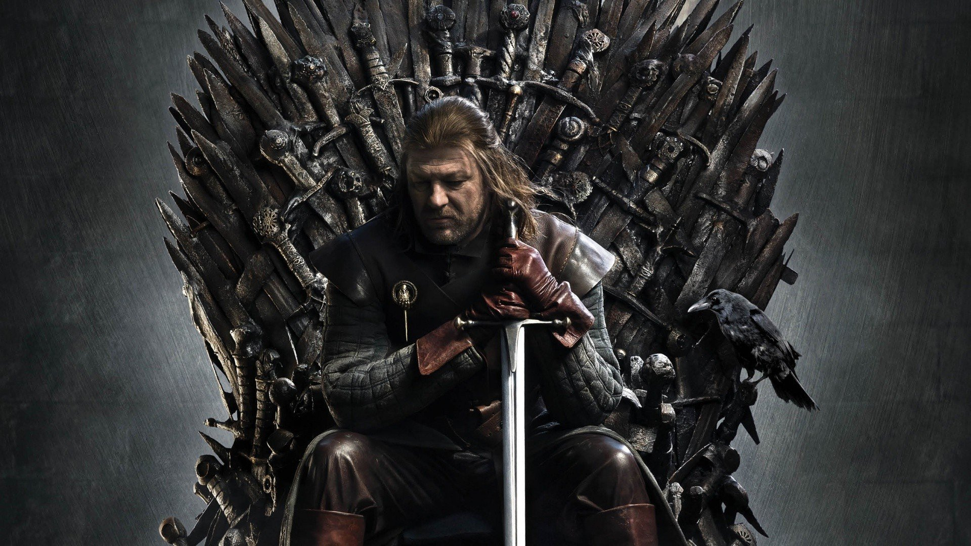 Game of Thrones   Ned Stark on the iron throne   1920x1080   Full HD 1920x1080