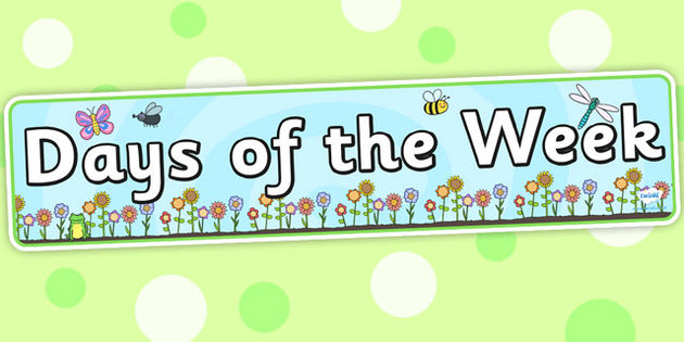 Days Of The Week Display Banner Flower Background   banner 630x315