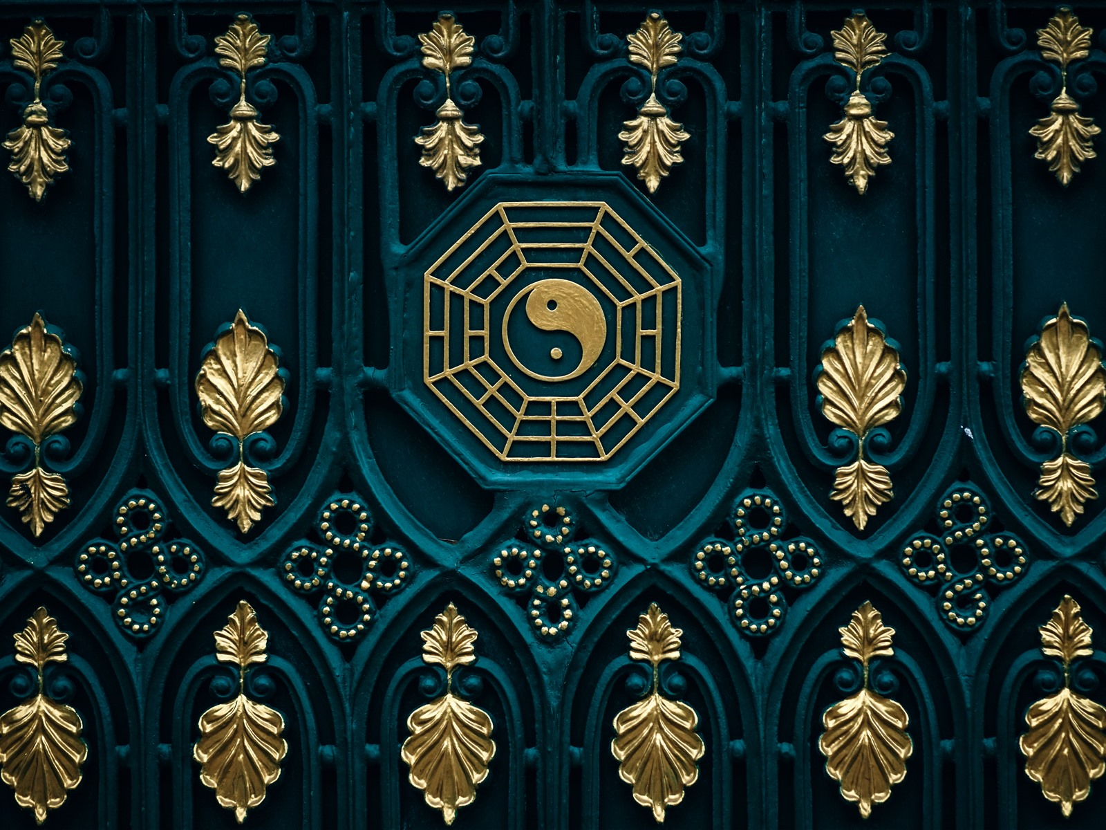 Wallpaper Bagua map yin yang door 5120x2880 UHD 5K Picture Image 1600x1200
