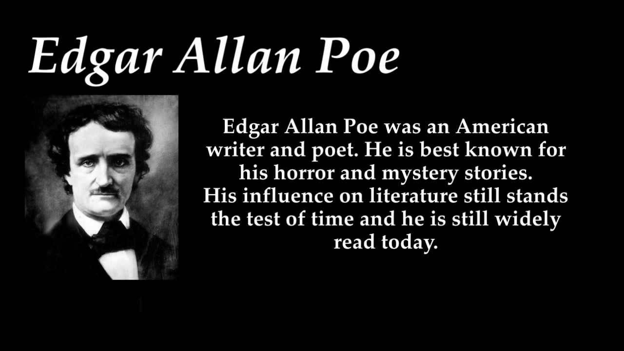 Edgar Allan Poe Wallpaper 5 Wallpaper for Edgar Allan Poe Edgar 1280x720